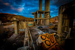 Trill (yeahwotever) Tags: apocalypse graffiti abandoned bunker concrete disused early lime mess oregon silo states structure sunrise tag tower usa