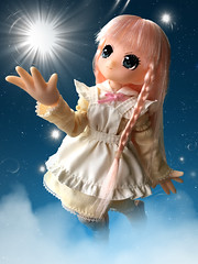 Little Fairy Big Wishes (Kawaii Kohaku) Tags: pureneemo pure neemo azone pink hair green eyes wish dreams light orb hobby international doll  fairy lil picconeemo 112   staff version erunoe artist mina soft vinyl