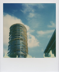 Offices - Roidweek 2016 (Tbo-art) Tags: architecture building blue sky urban modern modernarchitecture office minimal bluesky instant polaroid impossible impossibleproject simple minimalistic simplecomposition roidweek polaroidweek roidweek2016 apeldoorn gelderland netherlands minimalism