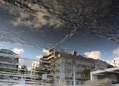 Floor by Floor (andressolo) Tags: reflection reflections reflect mirror reflected reflejo reflejos puddle puerto distortion distortions distorted vigo building buildings agua water