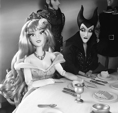The Girl Can't Help It (Richard Zimmons) Tags: princess villain disneystore mattel barbie designer dfdc maleficent doll disney aurora old hollywood jaynemansfield sophialoren