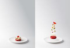 Strawberry (Simon.St) Tags: food foodphotography levitating dessert gourmet finedinning plating art artistic foodart foodporn