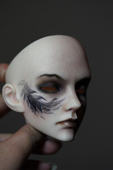IOS Blood commission (Mamzelle Follow) Tags: iosblood bjdfaceup facialtattoo wings commission doll followthewind