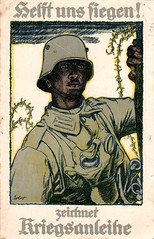 Patriotic postcard World War I - 1917 (Feldpost 14) Tags: wwi worldwari patriotic postcard vintage ersterweltkrieg kriegsanleiheaufruf helftunssiegen 1wk zeichnetkriegsanleihe erler