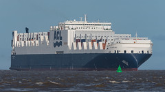 'Atlantic Sea'. (PRA Images) Tags: atlanticsea imo9670597 rorocontainercarrier ships shipping therivermersey theportofliverpool newbrighton