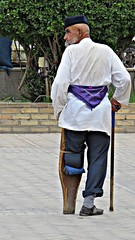 Man with a wooden leg, old style (h0n3yb33z) Tags: tajikistan khujand silkroad
