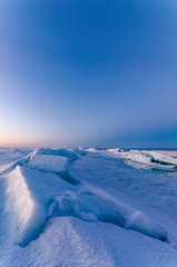 Blue Ice (Aaron Springer) Tags: michigan northernmichigan lakemichigan thegreatlakes ice pressureridge twilight portraitorientation outdoor nature landscape