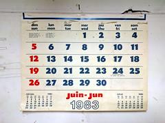 from another age (Ian Muttoo) Tags: img20161104111729edit ontario canada gimp calendar toronto 1983 juin june jun june1983