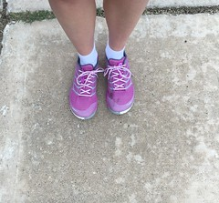 New shoes (greatandlittle) Tags: pink shoes merrell
