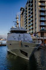 Autumn on the Wharf 13th Nov (28 of 37) (johnlinford) Tags: autumn boat canarywharf canon canonefs1022 canoneos7d docklands e14 landscape london navy p676 towerhamlets urban urbanautumn yacht