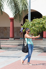 Selfie in front of the cathedral (10b travelling) Tags: 10btravelling 2015 americas armenia buga carstentenbrink christian colombia colombian iptcbasic kolumbien latinamerica southamerica catedral cathedral church selfportrait selfie tenbrink woman