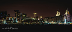 Liverpool Waterfront - World Heritage (graeme.prkr) Tags: liverpool waterfront worldheritage liverbirds landmark uk england architecture city pier port evening skyline graces cunard wigwam catherdral