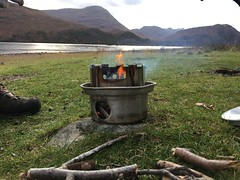 Hobo stove (What I saw...) Tags: loch arkaig scotland highlands fire hobo stove