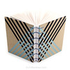 Black and Silver Stripe Washi Tape Journal handbound book by Ruth Bleakley - 4 (MissRuth) Tags: copticstitch copticjournal copticbookbinding washitape decotape journal handmadebook bookbinding bookarts diary giftsforwriters