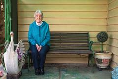 Newport (Westographer) Tags: newport melbourne australia westernsuburbs suburbia portrait frontporch tyreswan bench potplant