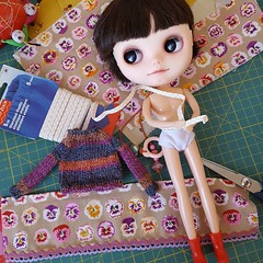 Finally a little bit of dolly sewing & knitting again