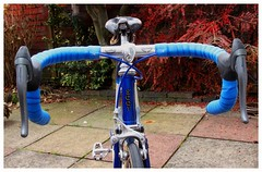 3ttt Handlebars and Brake Levers (Paris-Roubaix) Tags: dave yates flying scot bicycle 3ttt aero stem parisroubaix handlebars lizard skins handlebar tape shimano 600 brakes ultegra brake levers