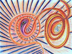 Manifestation 1 (goldengirl 2011) Tags: kundalini brahman coil serpent devourer katharinehanna art pastel creator maintainer destroyer manifestation pattern spiral bright abstract geometric