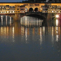 florence ponte vecchio (kexi) Tags: florence firenze florencja italy europe toscany tuscany square arno river water reflections lights bridge reflected old ancient evening thebluehour pontevecchio samsung wb690 october 2015 instantfave autoremovedfrom1to5faves
