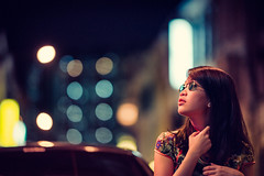 Keong Saik Rush (Jon Siegel) Tags: nikon nikkor d810 105mm 14 afsnikkor105mmf14eed nikon105mmf14 105mm14 woman girl beautiful sunglasses shades romantic night bokeh evening neon street light keongsaik chinese chinatown singapore singaporean singer musician linying people cinematography cinematic wongkarwai
