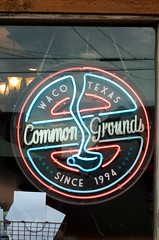 Common Grounds (dangr.dave) Tags: waco tx texas downtown historic architecture mclennancounty commongrounds coffee coffeeshop neon neonsign