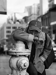 Photobomb (SebLC) Tags: black white toronto hydrant street photography people friendly happy