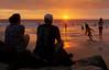 Magic Sands (sunrisesoup) Tags: sony nexc3 handheld sunrisesoup bigisland hawaii magicsandsbeach sunset swimming play laaloa beach park surf boogieboard sun orange people kona