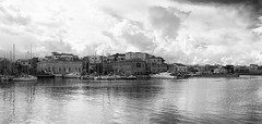 Chania_26_29112016-1052_BW (john houv) Tags: chania crete mediterranean oldharbour oldharbor lighthouse reflection