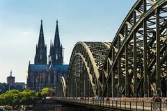 Rheinbrücke am Kölner Dom (Frank Lammel) Tags: city bridge summer church germany deutschland dom sommer cologne köln brücke 2015 d7200 nikond7200