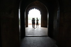 Safdarjung's Tomb Complex (Let Ideas Compete) Tags: light people india silhouette doors arch interior tomb newdelhi mughal safdarjungstomb indianculture safdarjung safdarjungs