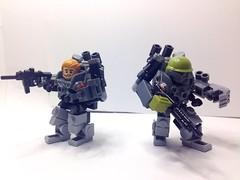X-50 Personal Force Amplification Suit - Mark 1 Prototype (Grimgorr) Tags: lego mech hardsuit brickarms