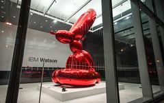 Balloon Rabbit (dansshots) Tags: nyc newyorkcity nightphotography sculpture eastvillage astorplace jeffkoons newyorkatnight nikond3 jeffkoonssculpture 51astorplace dansshots redballoonrabbit redballoonbunny redballoonrabbitsculpture balloonrabbitsculpture