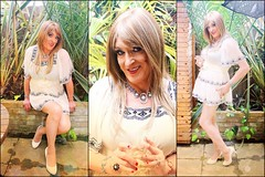Lady Bird (Julie Bracken) Tags: old red party portrait cindy fashion hair ginger tv cd mini skirt crossdressing tgirl transgender mature tranny transvestite heels pantyhose crossdresser nylon kinky trannie mtf 2015 m2f feminized enfemme xdresser tgurl feminised transsisters julieb85