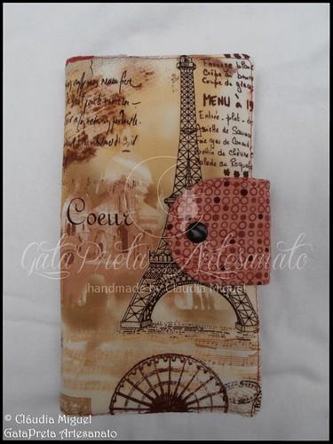 "Carteira para facturas ""J'aime l'automne à Paris"""