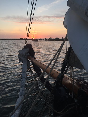 Sailing toward sunrise (from Enkhuizen)