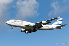 Boeing 747-400 4X-ELH ElAl 20150927 Heathrow (steam60163) Tags: heathrow boeing747 jumbojet heathrowairport elal