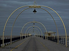 Southport Pier (Clare-White) Tags: england sky lights pier lamps southport