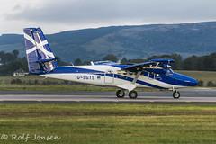 G-SGTS De Havilland Canada DHC6 Twin otter Loganair Glasgow airport EGPF 09.10-15 (rjonsen) Tags: scotland airport glasgow twin otter loganair egpf