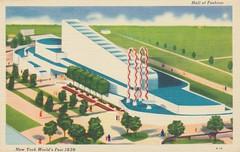 Hall of Fashion - 1939 New York World's Fair (The Cardboard America Archives) Tags: newyork vintage linen postcard 1939 worldsfair exhibtions