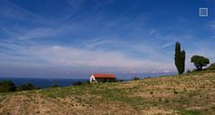 Slovenian landscape (-REcallable-Memories-of-ET-) Tags: blue sea yellow landscape slovenia kp tenger szlovnia httr eszetams
