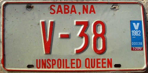 Saba 1979-82 Series License Plate