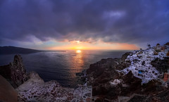 Admitted  (kaising_fung) Tags: town cliff oia sunset