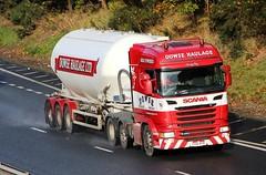 SCANIA R450 - DOWSE HAULAGE Brigg Humberside (scotrailm 63A) Tags: lorries trucks tankers