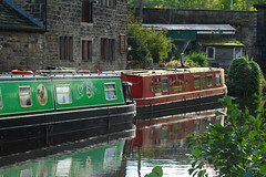 Leeds Liverpool Canal.  Apperly Bridge Bradford (jdathebowler Thanks for 900,000+ views.) Tags: canalandrivertrust leedsliverpoolcanal apperlybridgebradford swiftcraftmoorings barges moorings