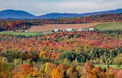 Northeast Fall Color (~ Bob ~) Tags: north hatley landscape beautiful nature stunning quebec colors farm canada fall new england vibrant northhatley newengland explore explored