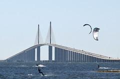 Kite surfing near Skyway Bridge in St. Petersburg (20) (Carlosbrknews) Tags: kitesurfing stpetersburg skywaybridge tampa bay florida