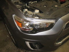 2011-2017 Mitsubishi Outlander Sport Headlight Housing - Changing Burnt Out Low Beam (HID or Halogen), High Beam, Front Turn Signal & Front Side Marker Light Bulbs (paul79uf) Tags: 2011 2012 2013 2014 2015 2016 2017 mitsubishi outlander sport headlight bulbs light lamp change changing replace replacing replacement guide tutorial part number numero de parte como hacer cambiar high voltage 3rd generation burnt out access remove removal install installing installation bombilla