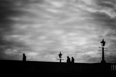 Richmond (stefanopad82) Tags: london richmond bridxe sony nex7 nex jupiter9 jupiter m39 85mm f2 russian lens manual focus black white silhouette people bridge street lamp winter