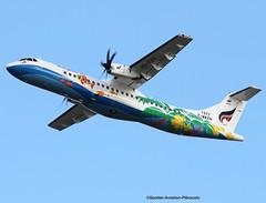 Bangkok Airways. FIRST FLIGHT FOR THE ATR COMPANY. (Jacques PANAS) Tags: bangkok airways atr 72600 72212a hspzh fwwen msn1377
