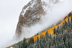 Gothic Mountain Surprise (Ryan C Wright) Tags: red gothic crestedbutte homedecor officedecor fineartphotography landscapephotography naturephotography snow cb fall aspen colorado